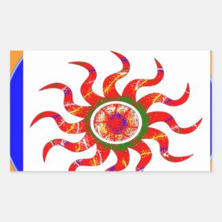 SUN Energy Chakra Graphics Rectangular Stickers