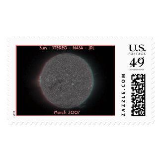Sun - ESTÉREO - - NASA - JPL tridimensional Sello