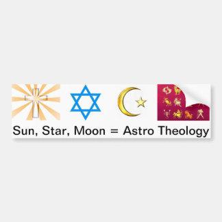 Sun, estrella, luna = teología de Astro Pegatina Para Auto