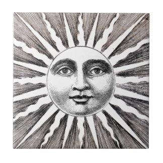 Sun Face 2 Vintage Tile