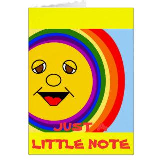 Sun Face and Rainbow Card