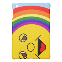 Sun Face and Rainbow iPad Case