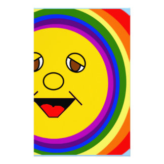 Sun Face and Rainbow Stationery