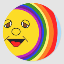 Sun Face and Rainbow Stickers