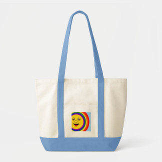Sun Face and Rainbow Tote Bag