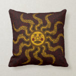 Sun Face Decorative Throw Pillow