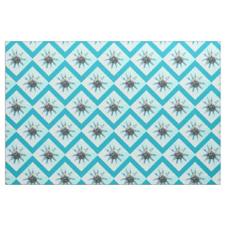 blue diamond pattern fabric zazzle