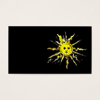 sun face - lost book of nostradamus business card