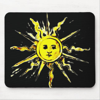 sun face - lost book of nostradamus mouse pad