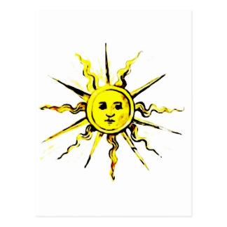 sun face - lost book of nostradamus postcards