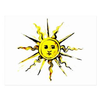 sun face - lost book of nostradamus postcard