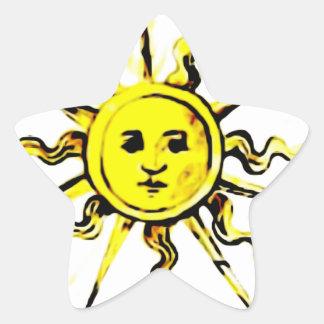 sun face - lost book of nostradamus star sticker