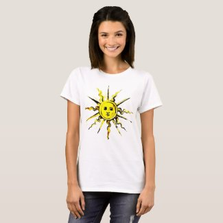 sun face - lost book of nostradamus T-Shirt