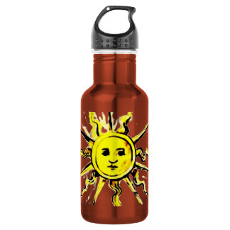sun face - lost book of nostradamus water bottle