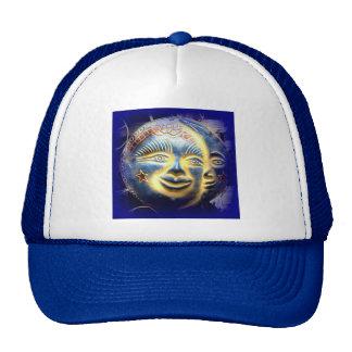 sun face/ moon face cap trucker hat