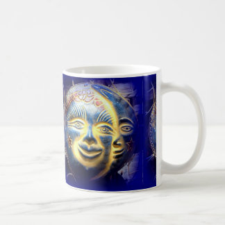 sun face/ moon face coffee mug