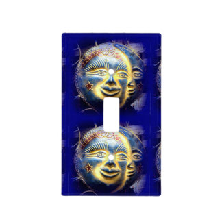 sun face/ moon face light switch cover