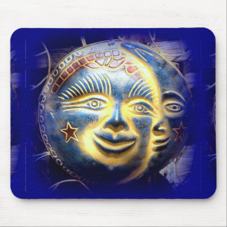 sun face/moon face mousepad