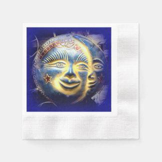 sun face/ moon face paper napkins
