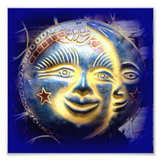 sun face/ moon face photo print