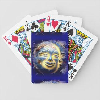 sun face/ moon face playing cards