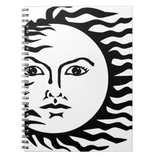 sun face notebook