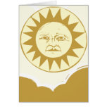 Sun Face with Clouds Greeting Card