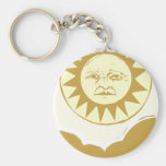 Sun Face with Clouds Key Chains