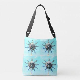 sun-faces light blue crossbody bag