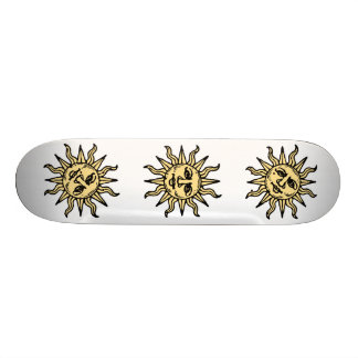 Sun Faces Skateboard Deck