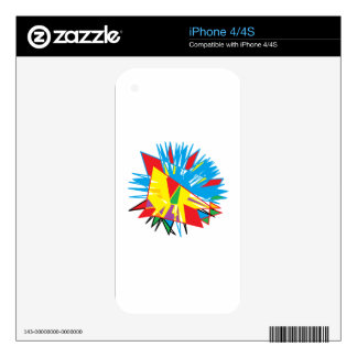 Sun Feathers iPhone 4S Decal