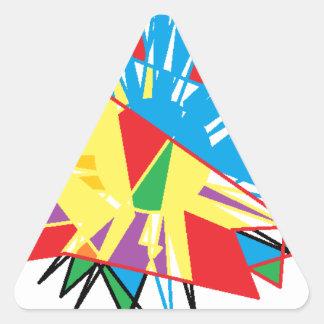 Sun Feathers Triangle Sticker
