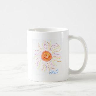 Sun feliz estupendo taza básica blanca