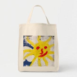 Sun feliz hace frente a sonrisa bolsa de mano