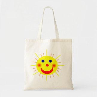 Sun feliz hace frente bolsas