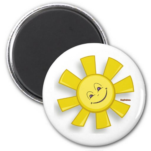 Sun feliz imán de frigorifico