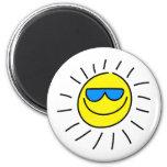 Sun feliz imán de nevera