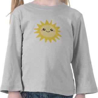 Sun feliz lindo camisetas