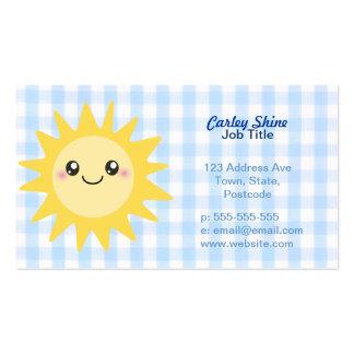 Sun feliz lindo tarjetas de visita