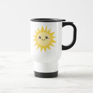 Sun feliz lindo tazas de café