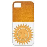 Sun feliz sonriente anaranjado iPhone 5 Case-Mate fundas
