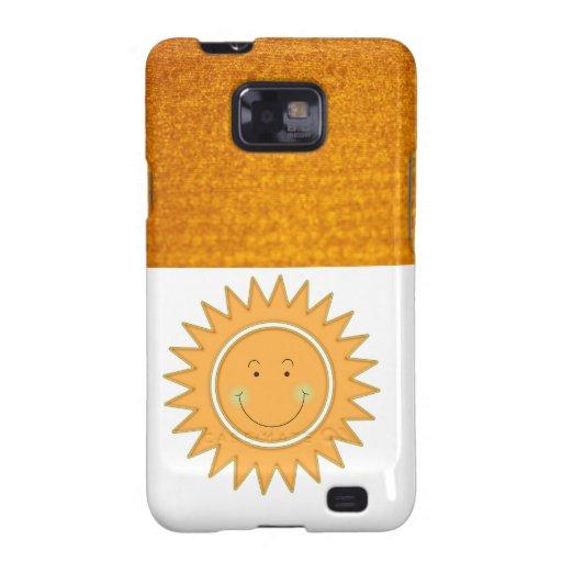 Sun feliz sonriente anaranjado galaxy SII carcasa