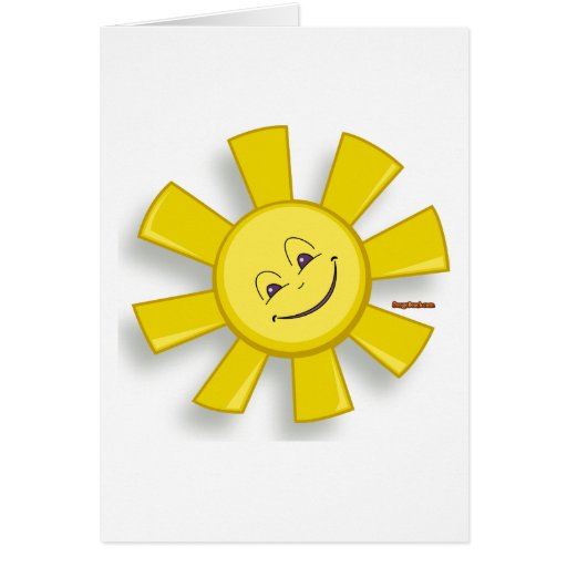 Sun feliz felicitación