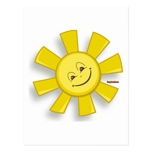Sun feliz postal