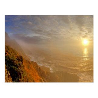 Sun fija sobre el Océano Pacífico de Heceta Postal