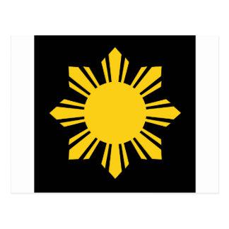 Sun filipino tarjetas postales
