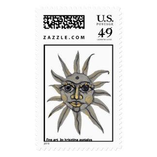 sun -  fine art krisztina asztalos stamp
