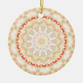 Sun Fire Mandala kaleidoscope Ceramic Ornament
