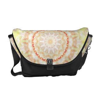Sun Fire Mandala kaleidoscope Courier Bag