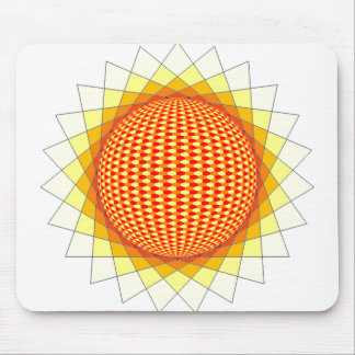 sun fire mousepad